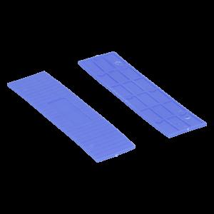 Köhlerwoodcap Kunststof Rasterblok - 26x2mm - Blauw (100st)