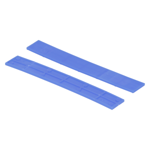 Köhlerwoodcap Kunststof Rasterblok - 15x2mm - Blauw (100st)