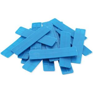 Kunststof Glasblok - 100x30x2mm - Blauw (100st)