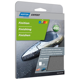 Norton T489 - K400 Schuurvel Expert Waterproof 230x280mm (3 vellen)