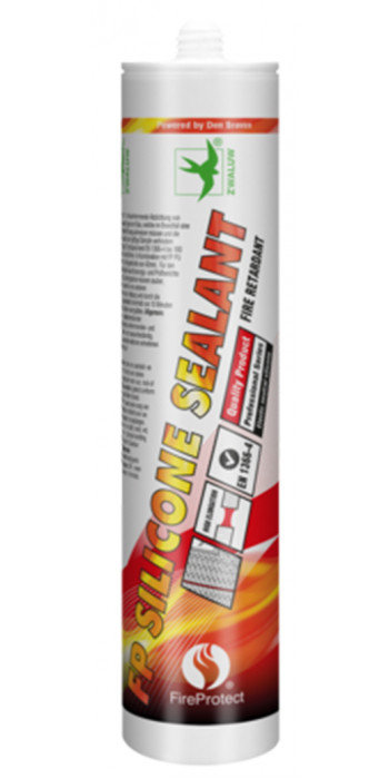 Zwaluw Fireprotect Siliconen Seal - Grijs - 310ml